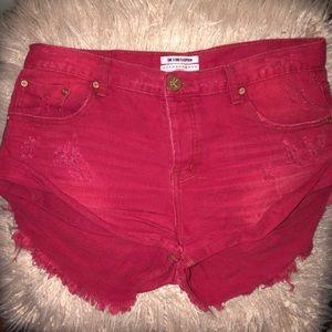 Red Bandits ONETEASPOON shorts